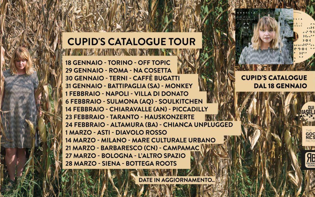 """Il 18 gennaio 2019 esce """"Cupid's Catalogue"""", secondo album di Cecilia, e parte il tour"""