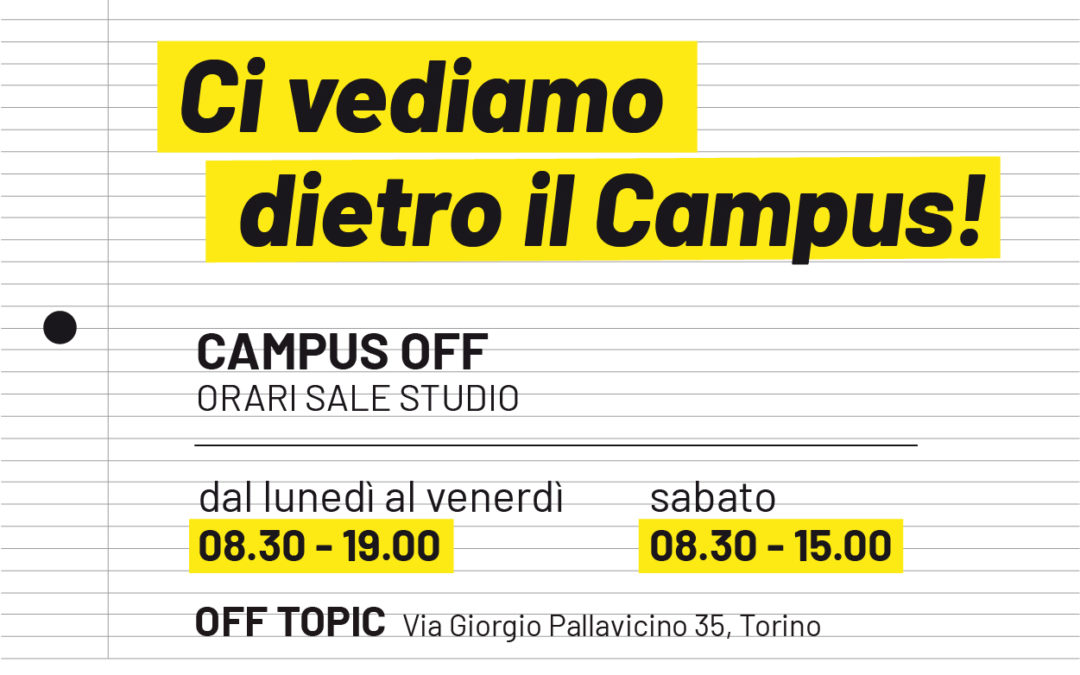 OFF TOPIC diventa Aula Studio dell'Università