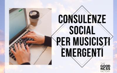 Consulenze social per musicisti emergenti