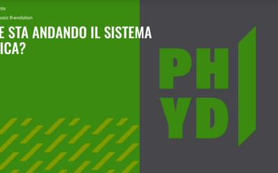 """Annarita Masullo tra gli ospiti del talk """"Dove sta andando il sistema musica?"""" organizzato da PHYD"""