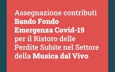 I risultati del Bando Fondo Emergenza Covid-19 per il Ristoro delle Perdite Subite nel Settore della Musica dal Vivo