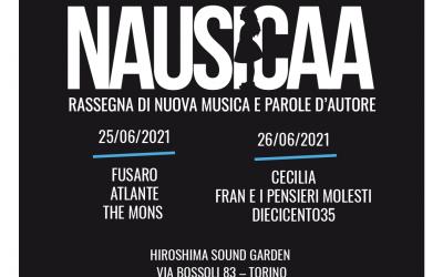 """Il 25 e 26 giugno """"Nausicaa – Rassegna di nuova musica e parole d'autore"""" all'Hiroshima Sound Garden"""